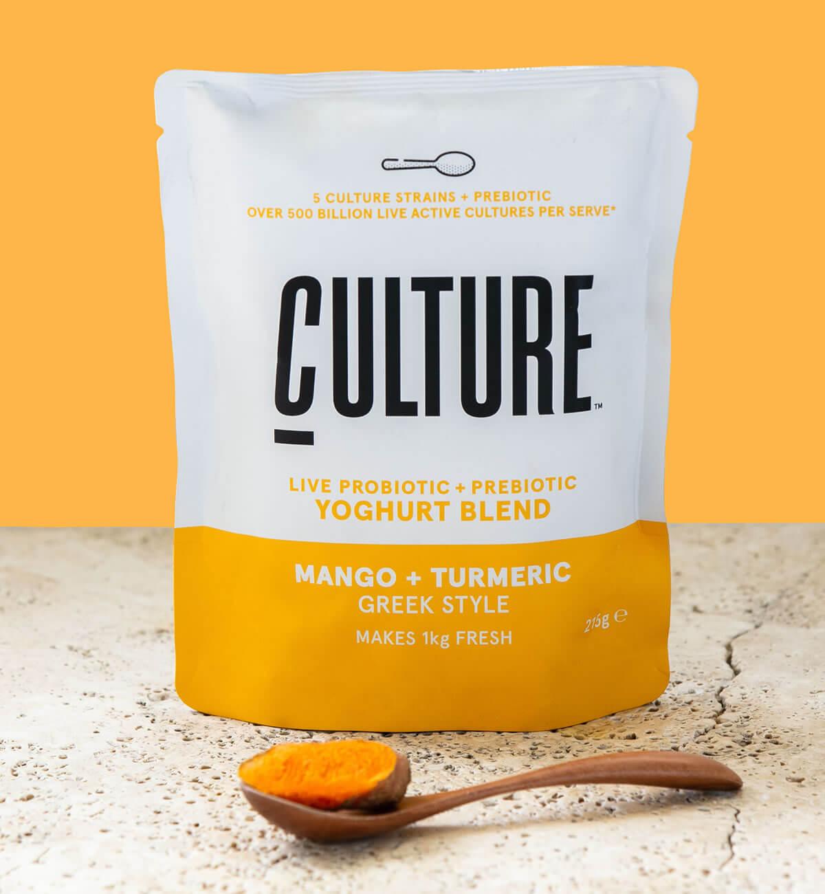 Culture Yoghurt Pack Shot Mango Tumeric