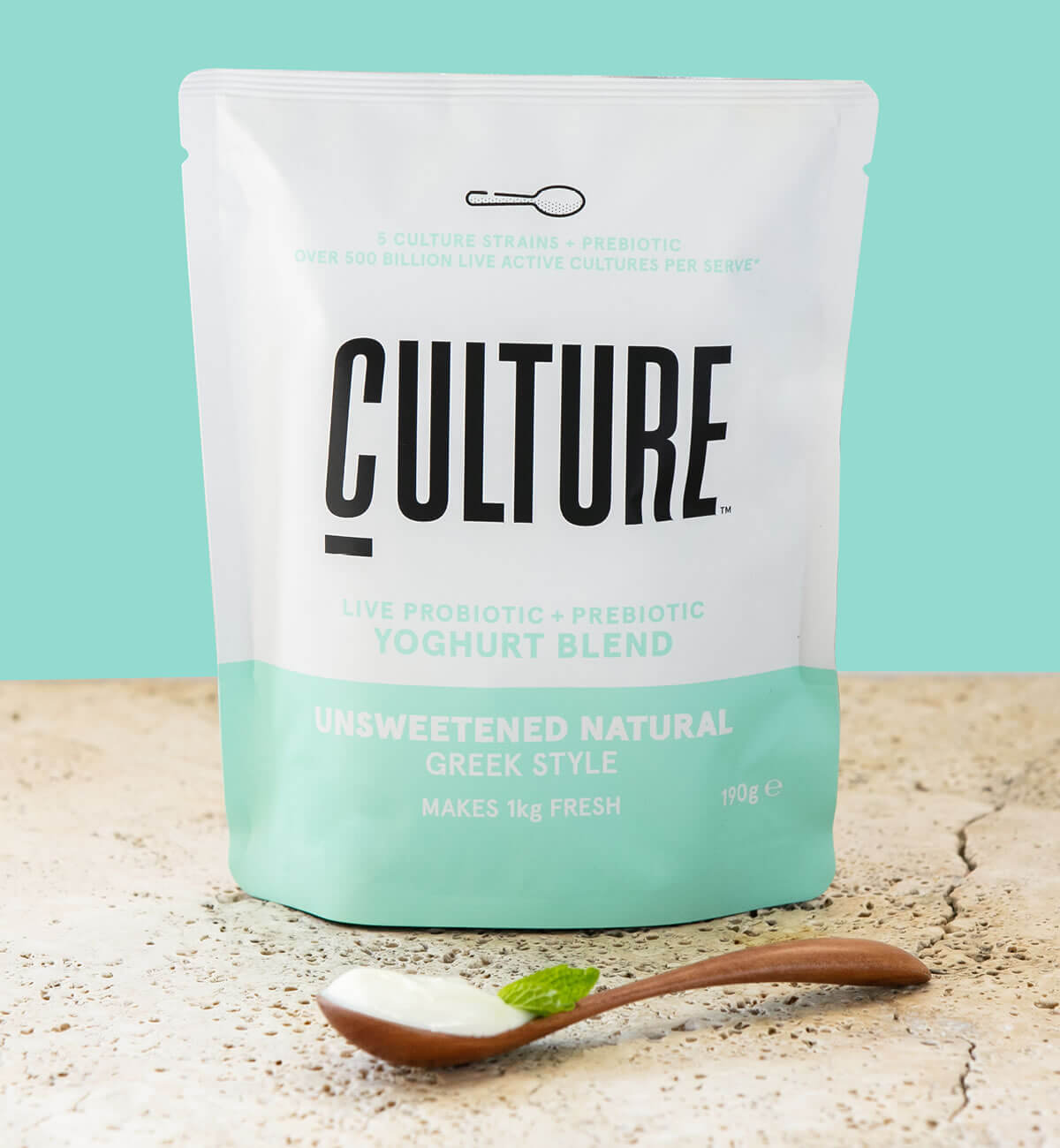 Culture Yoghurt Pack Shot Natural Greek Style