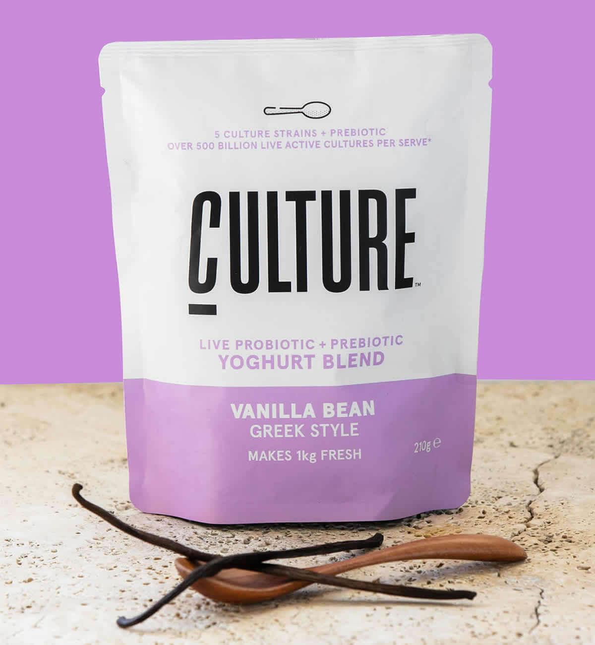 Culture Yoghurt Pack Shot Vanilla Bean
